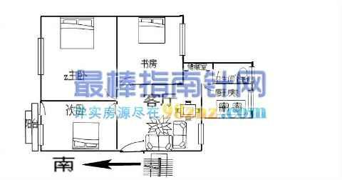 农村八十平方三室一厅的设计图展示