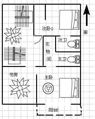 二间三层房屋平面设计图分享展示